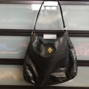 Tory Burch Black Leather Shoulder Bag